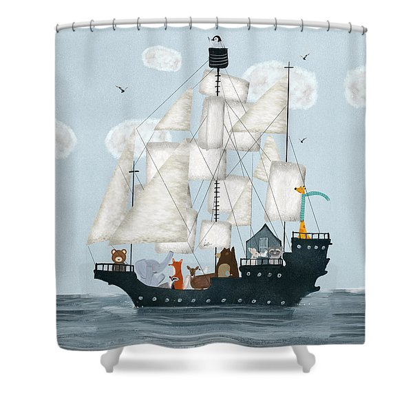 A Nautical Adventure Shower Curtain