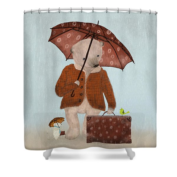 Where To Now Oh Big Bear  Shower Curtain