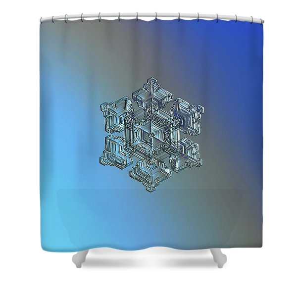 Real Snowflake - 05-feb-2018 - 5 Shower Curtain