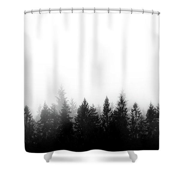 Scandinavian Forest Shower Curtain