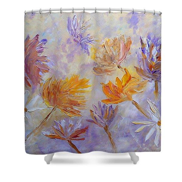Purple Blaze Shower Curtain