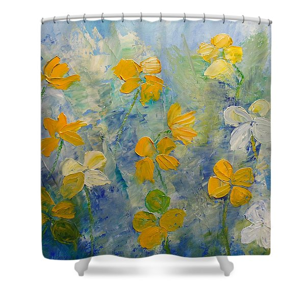 Blossoms In Breeze Shower Curtain
