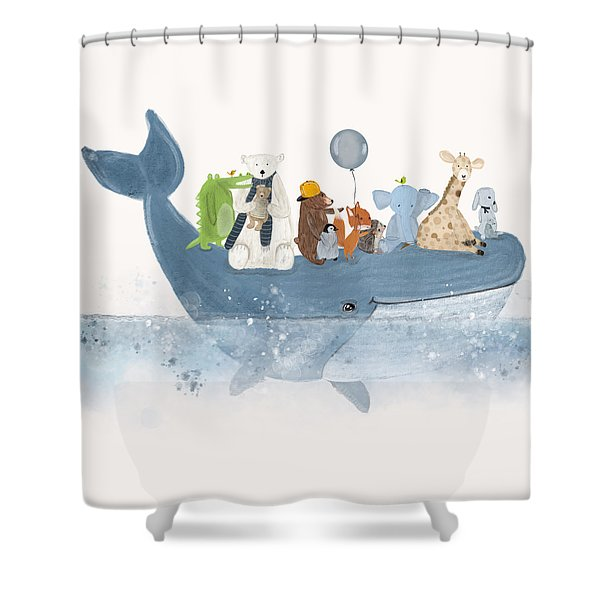 A Whale Of A Time  Shower Curtain