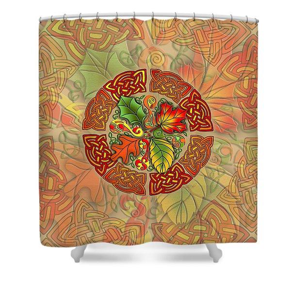 Celtic Autumn Leaves Shower Curtain