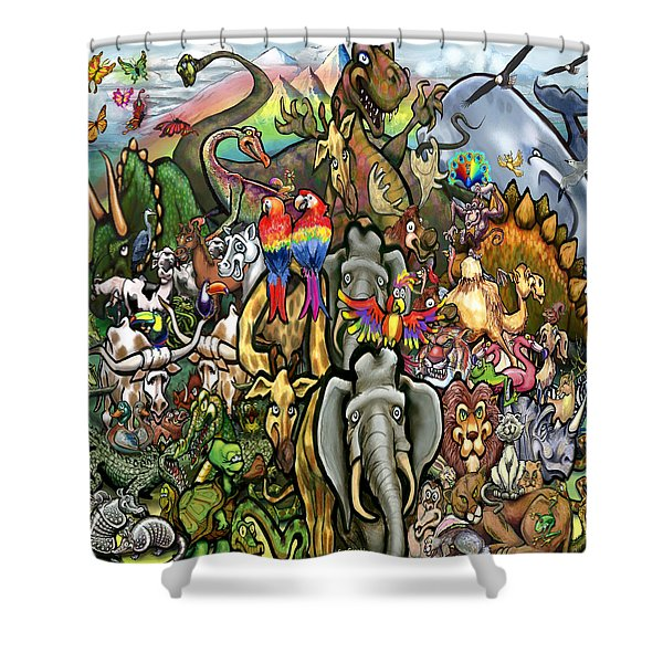 All Creatures Great Small Shower Curtain