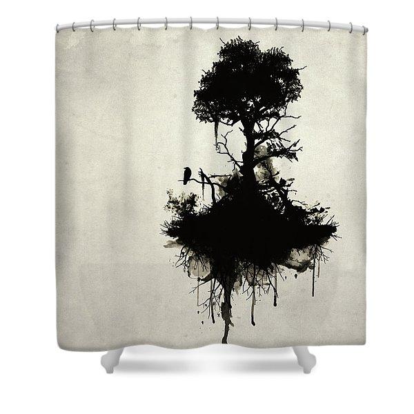 Last Tree Standing Shower Curtain