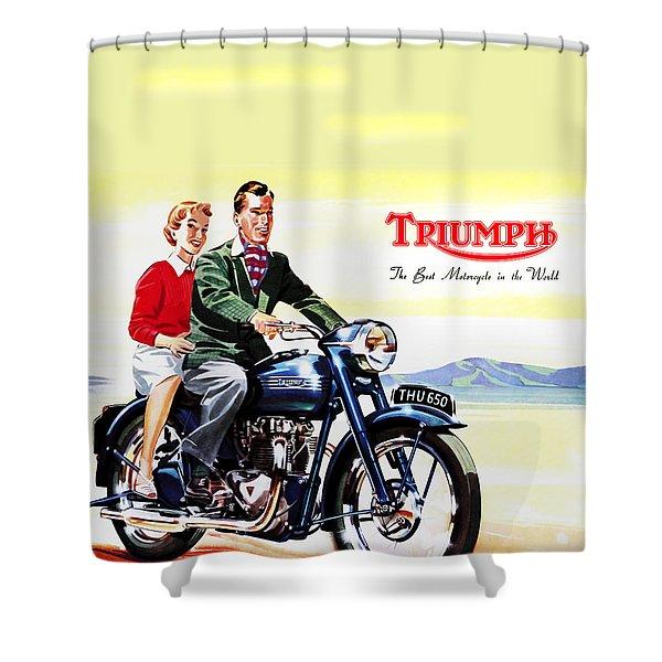 Triumph 1953 Shower Curtain