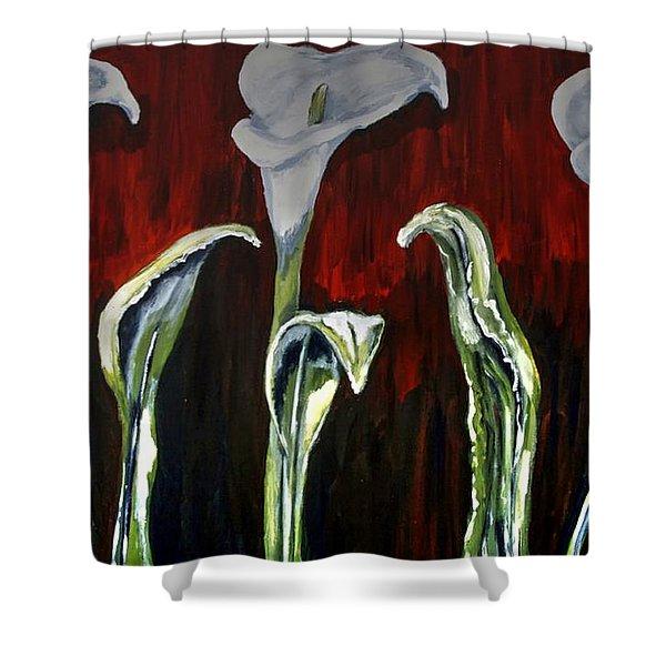 Arum Lillies Shower Curtain