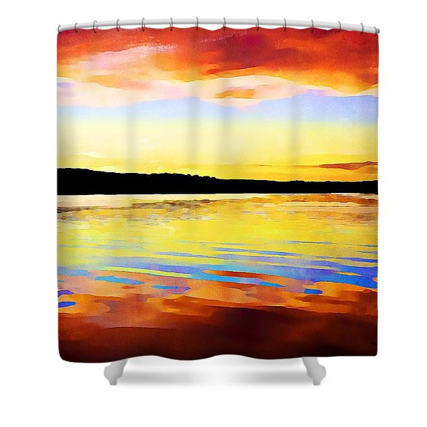 As Above So Below - Digital Paint Shower Curtain