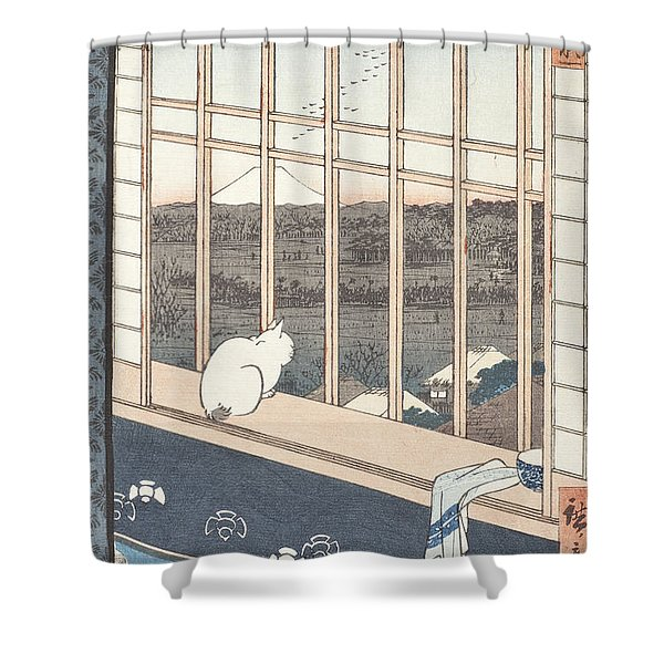 Asakusa Rice Fields And Festival Of Torinomachi From The Series One Hundred Famous Views Of Edo Shower Curtain