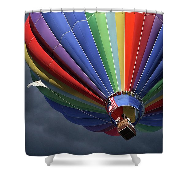 Ascending To The Storm Shower Curtain