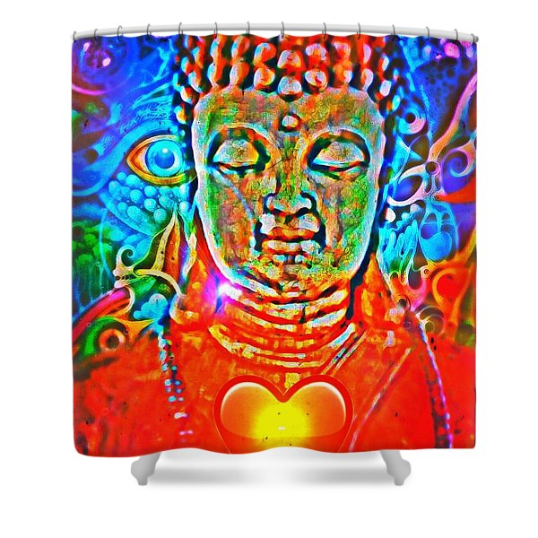 Ascension Wave Shower Curtain