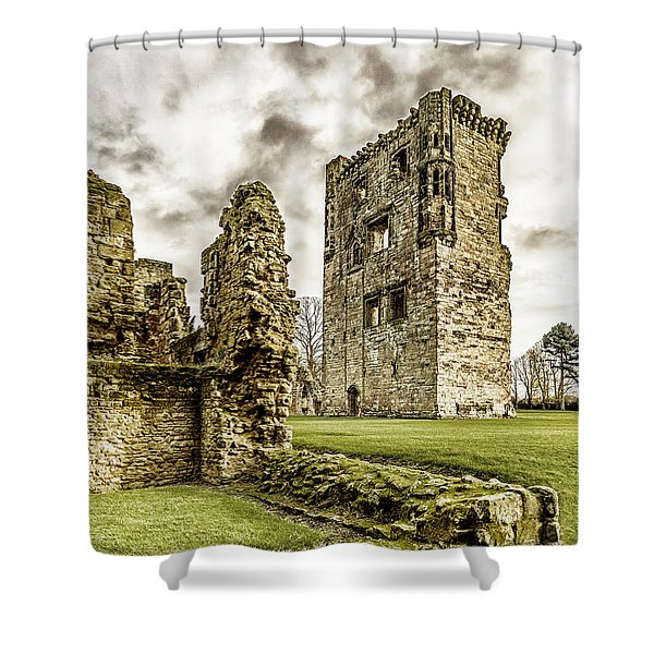 Shower Curtain featuring the photograph Ashby Castle by Nick Bywater
