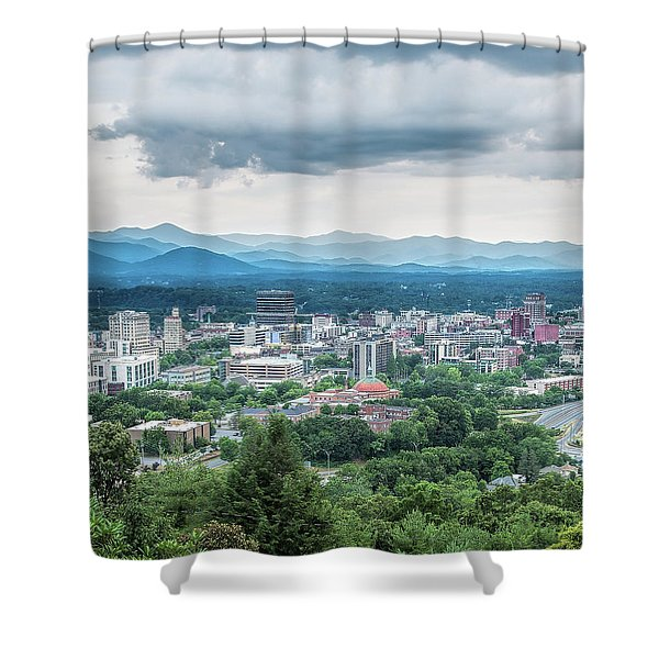Asheville Afternoon Cropped Shower Curtain