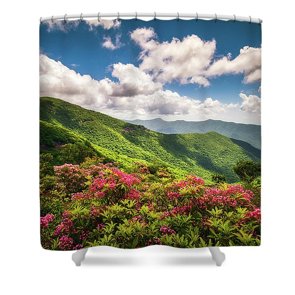 Asheville Nc Blue Ridge Parkway Spring Flowers Scenic Landscape Shower Curtain