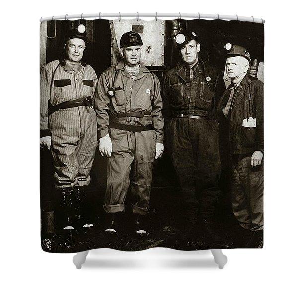 Ashley Pa  Glen Alden Coal Co  Huber Coal Breaker 1962 Shower Curtain
