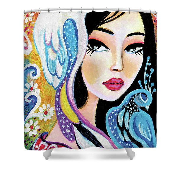 Asian Bird Shower Curtain