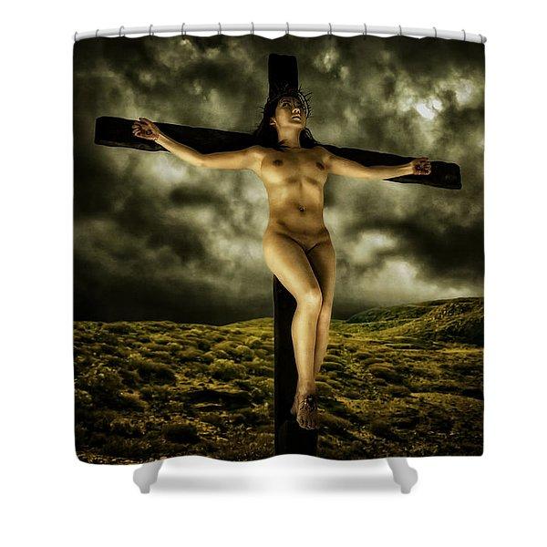 Asian Jesus Crucifix V Shower Curtain