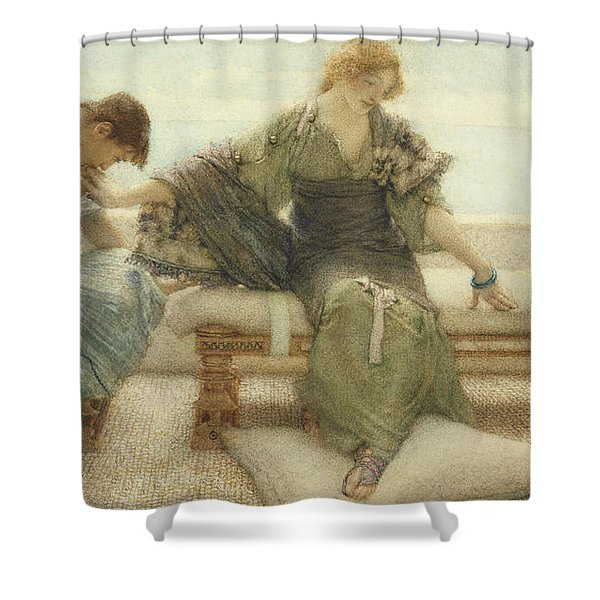 Ask Me No More....for At A Touch I Yield Shower Curtain