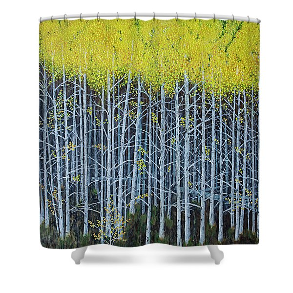 Aspen Stand The Painting Shower Curtain