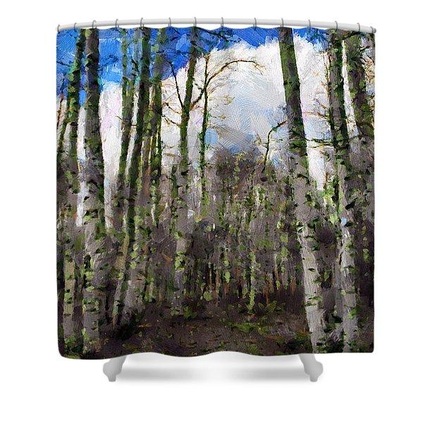 Aspen Standing Shower Curtain
