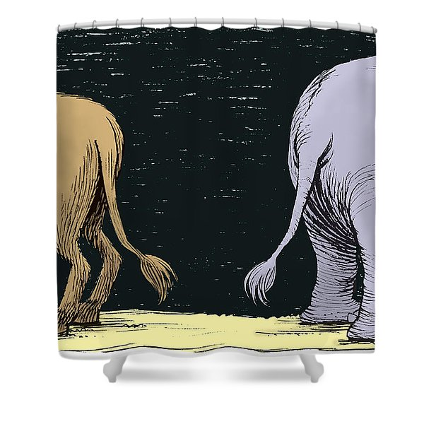 Asses Shower Curtain