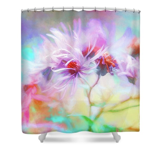 Asters Gone Wild Shower Curtain