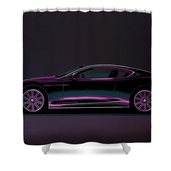Aston Martin Dbs V12 2007 Painting Shower Curtain