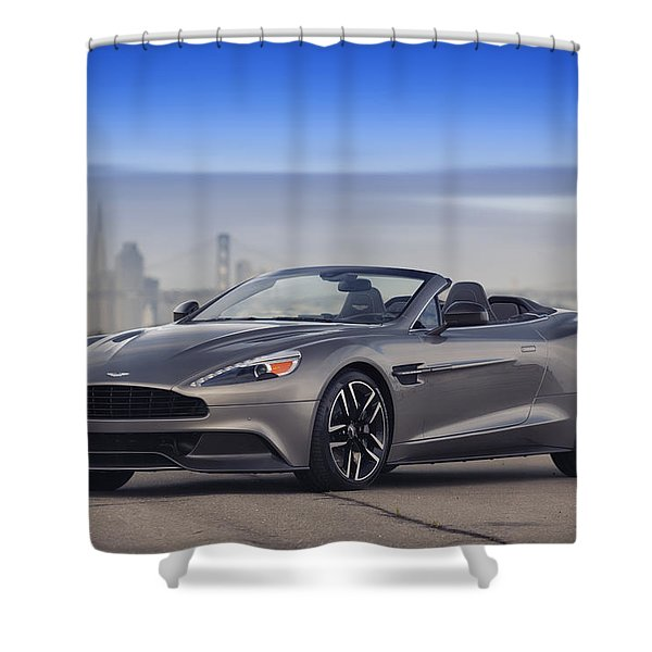 Aston Vanquish Convertible Shower Curtain