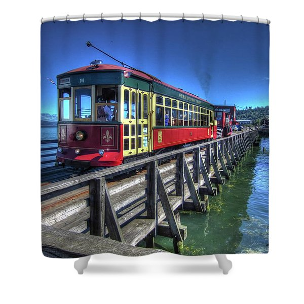 Astoria Riverfront Trolley Shower Curtain