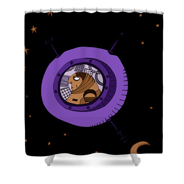 Astronaut In Deep Space Shower Curtain
