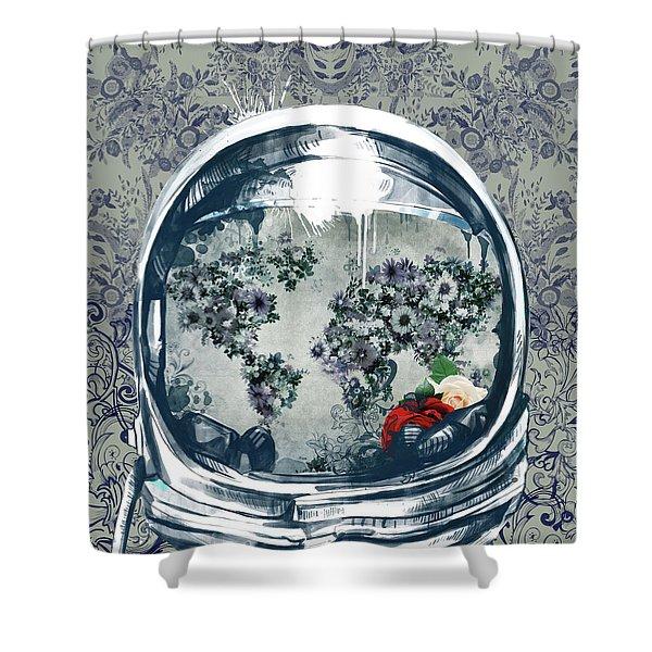 Astronaut World Map 5 Shower Curtain