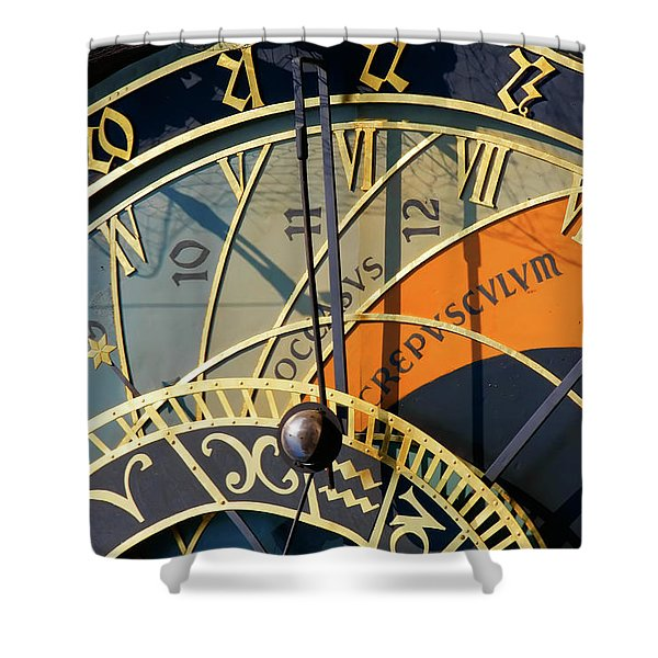 Astronomical Clock Prague Shower Curtain