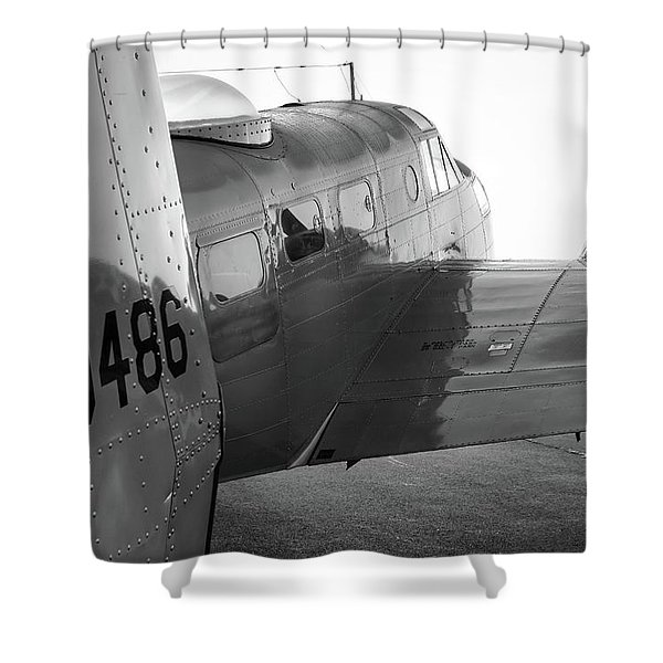 At-11 In Black And White - 2017 Christopher Buff, Www.aviationbuff.com Shower Curtain