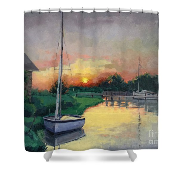 At Ease Sold Shower Curtain