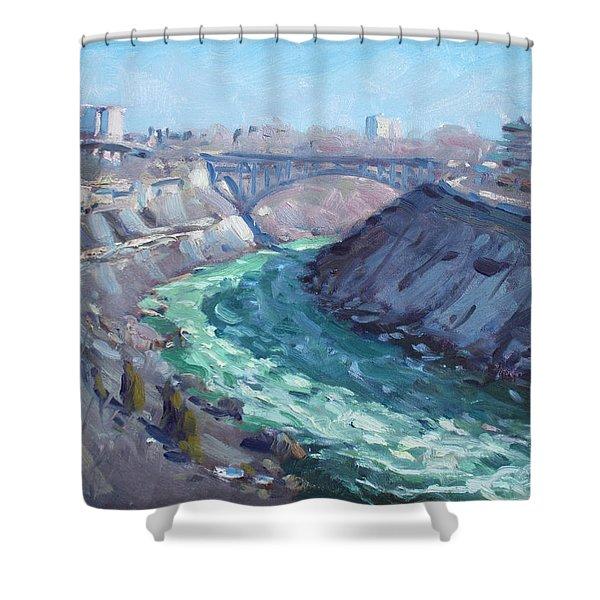 At Niagara Gorge Shower Curtain