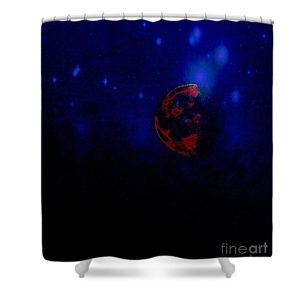 At Night In The City Shower Curtain