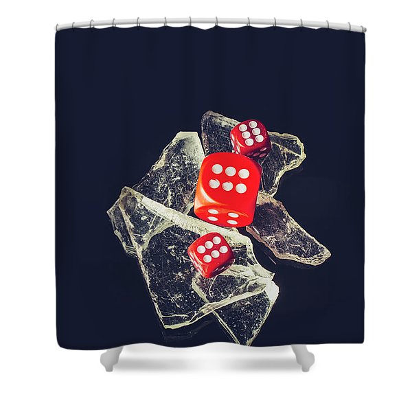 At Odds Shower Curtain