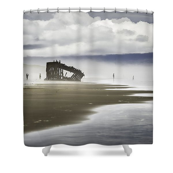 At Peter Iredale Shipwreck Shower Curtain