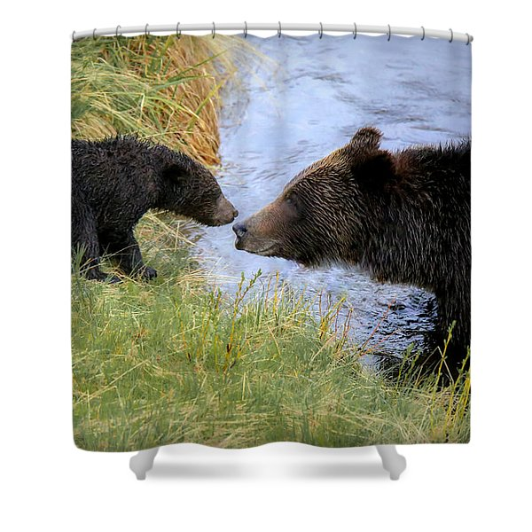 At River's Edge Shower Curtain
