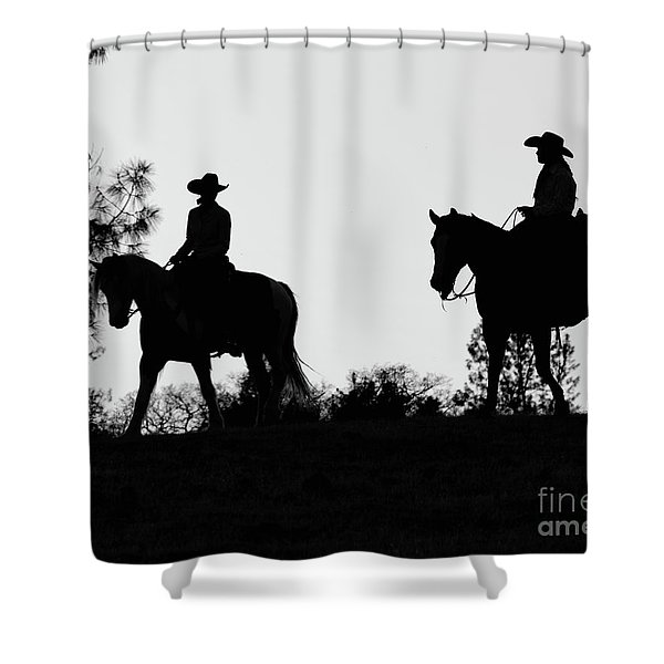 At Sunset On The Ranch Shower Curtain