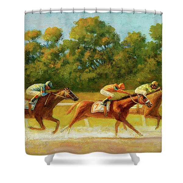 At The Finish Line Shower Curtain