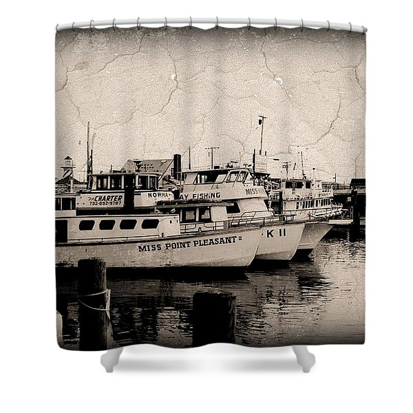 At The Marina - Jersey Shore Shower Curtain