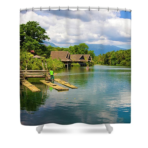 At The Plantation Shower Curtain
