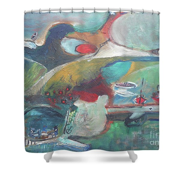 At The Sea Shore Shower Curtain