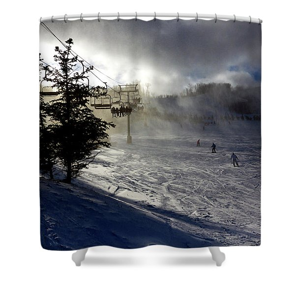At The Ski Slope Shower Curtain