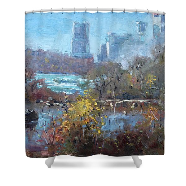 At Three Sisters Island Shower Curtain