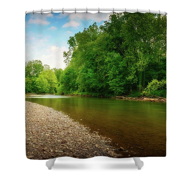 At Waters Edge Shower Curtain