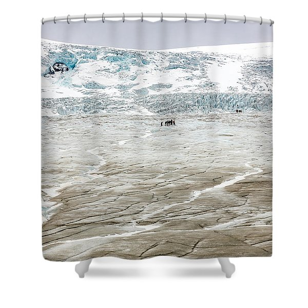 Athabasca Glacier With Guided Expedition Shower Curtain