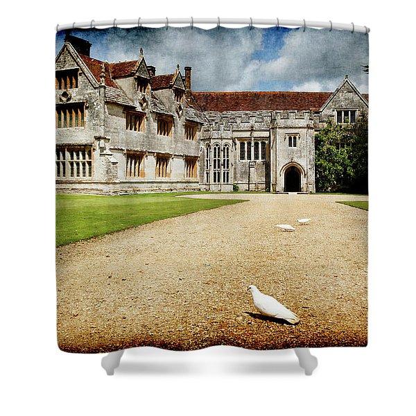 Athelhamptom Manor House Shower Curtain